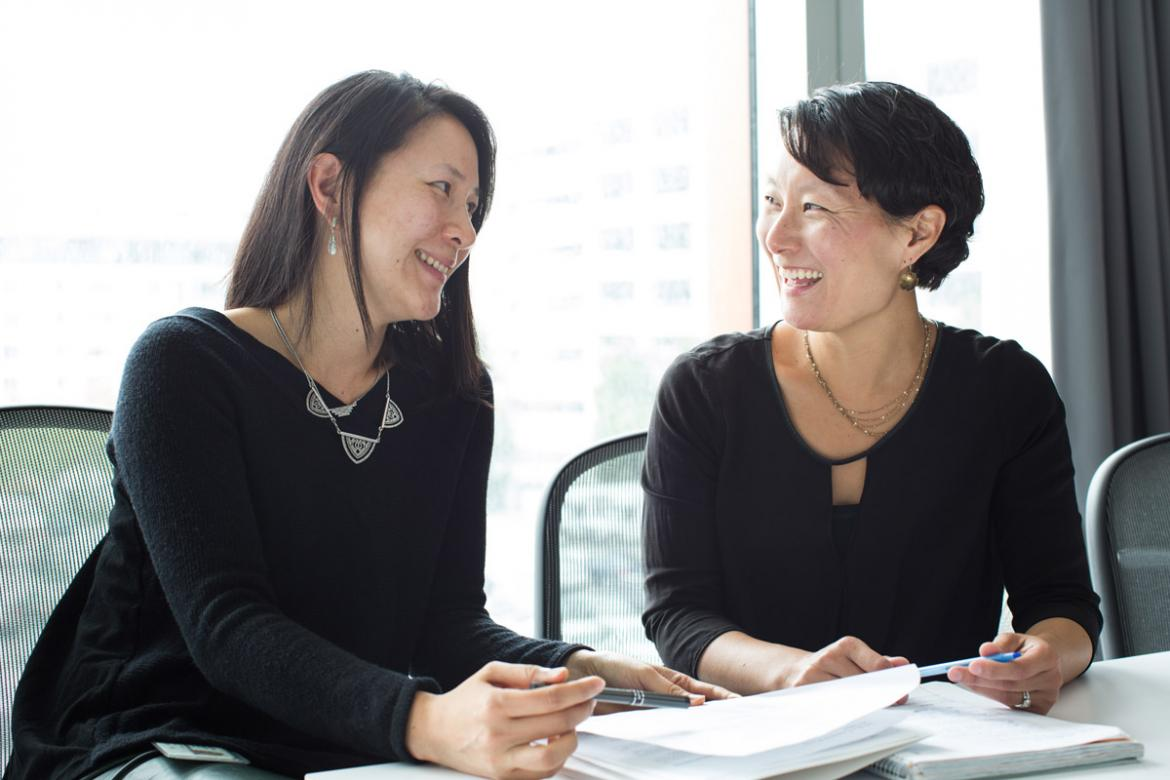 JFAR Co-chairs Nadia Roan (L) and Sulggi Lee